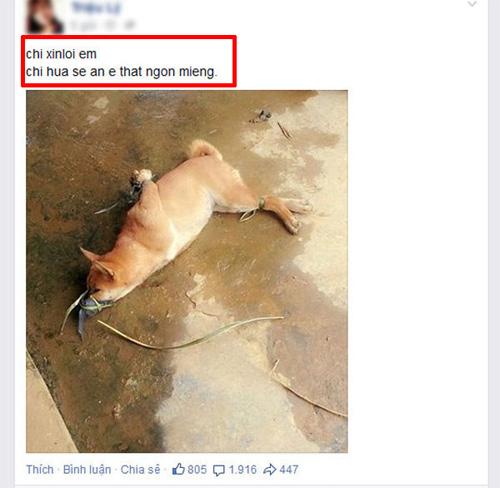 Cô gái đăng ảnh giết chó ăn sinh nhật lên Facebook gây xôn xao dân mạng - 1