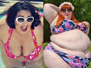 Tròn mắt ngắm nàng siêu béo khoe mỡ với bikini