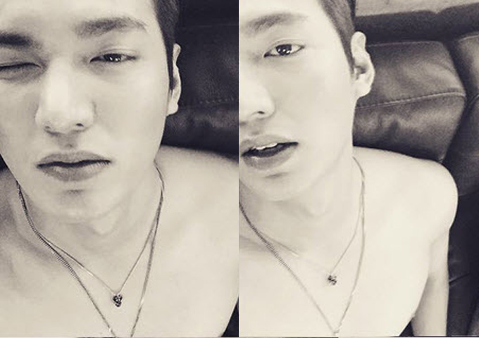 Lee Min Ho tung ảnh bán nude vì... quá nóng