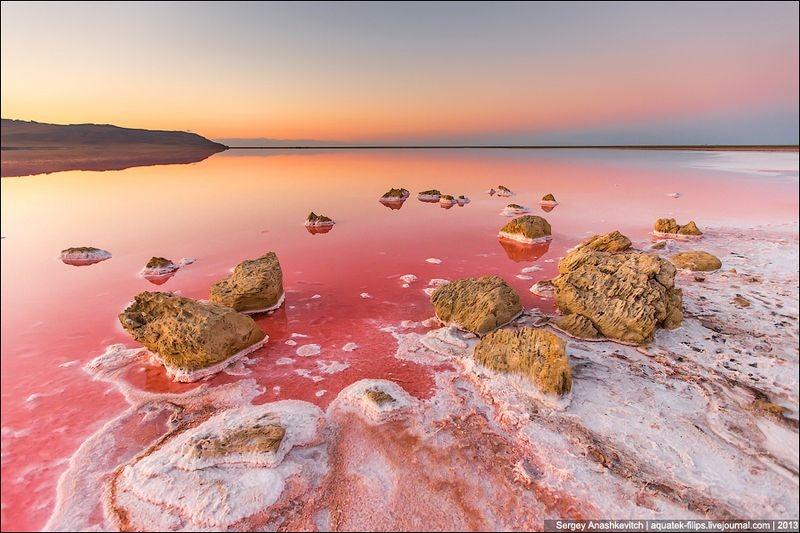 Tuyệt đẹp hồ muối hồng thơ mộng ở Ukraine - 1
