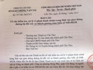 Bác tin TTGT Cần Thơ rút súng dọa nhân viên xe khách