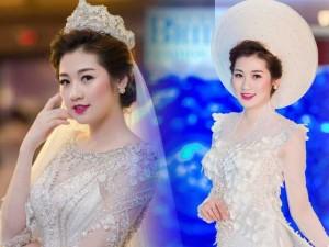 Á hậu Tú Anh tự tin diễn váy cưới hậu giảm cân