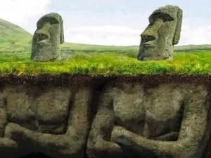 Bí ẩn phần thân dưới tượng đá đảo Phục Sinh