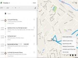Google biết tất cả những nơi bạn từng đi qua