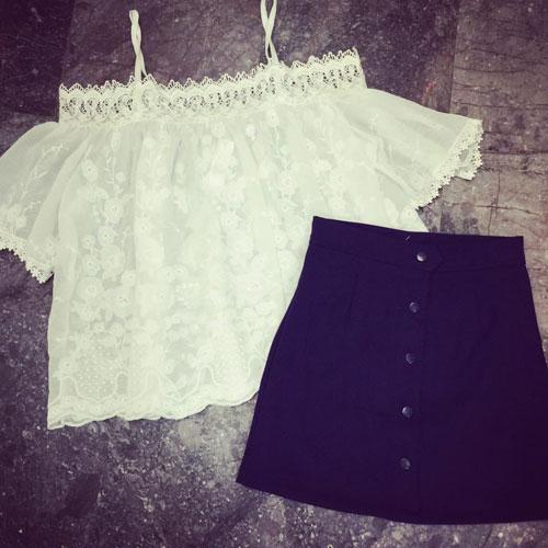 Chọn mua áo hở vai ngọt ngào như Hoàng Thùy Linh - 6