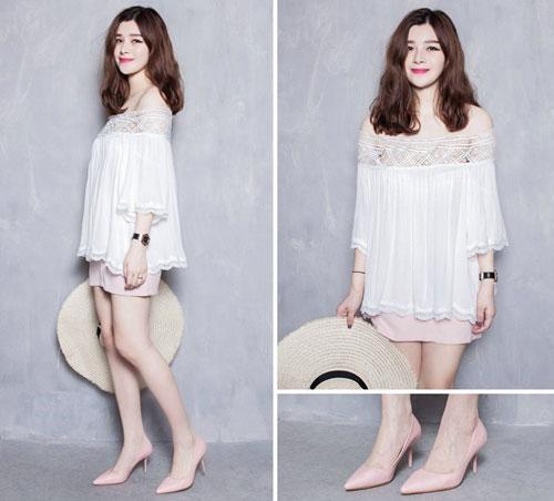 Chọn mua áo hở vai ngọt ngào như Hoàng Thùy Linh - 11