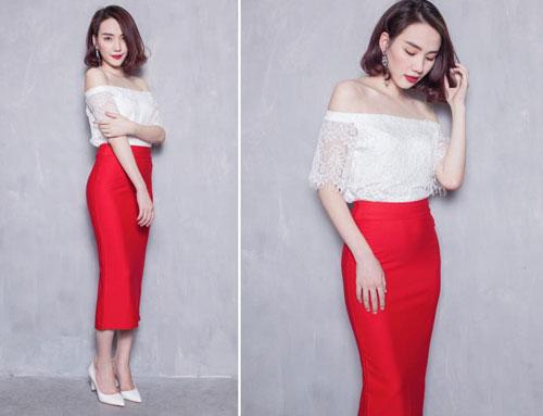 Chọn mua áo hở vai ngọt ngào như Hoàng Thùy Linh - 8