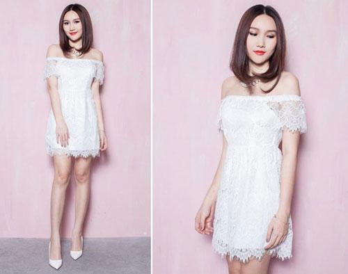 Chọn mua áo hở vai ngọt ngào như Hoàng Thùy Linh - 12