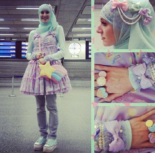 """Thời trang """"tiểu thư"""" Nhật chinh phục thiếu nữ đạo Hồi - 5"""