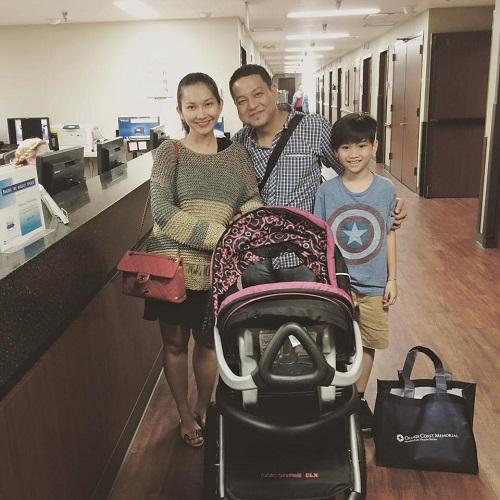 Kim Hiền xuất viện sau 2 ngày sinh con - 1
