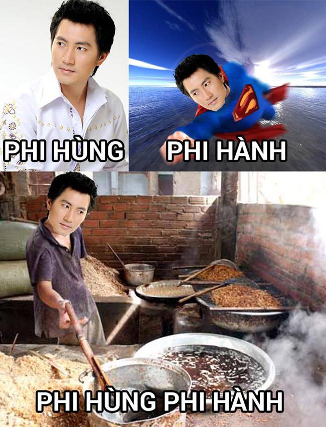 Dáng đứng  phi hành của ca sỹ Phi Hùng.
