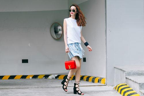 Gu mặc sành điệu của cô gái mê jeans trên phố Sài Gòn - 15