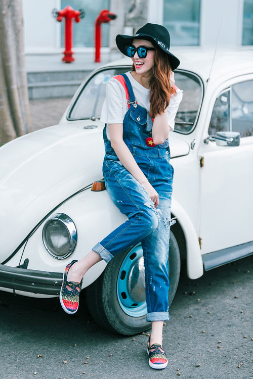 Gu mặc sành điệu của cô gái mê jeans trên phố Sài Gòn - 3