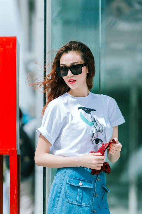 Gu mặc sành điệu của cô gái mê jeans trên phố Sài Gòn - 6