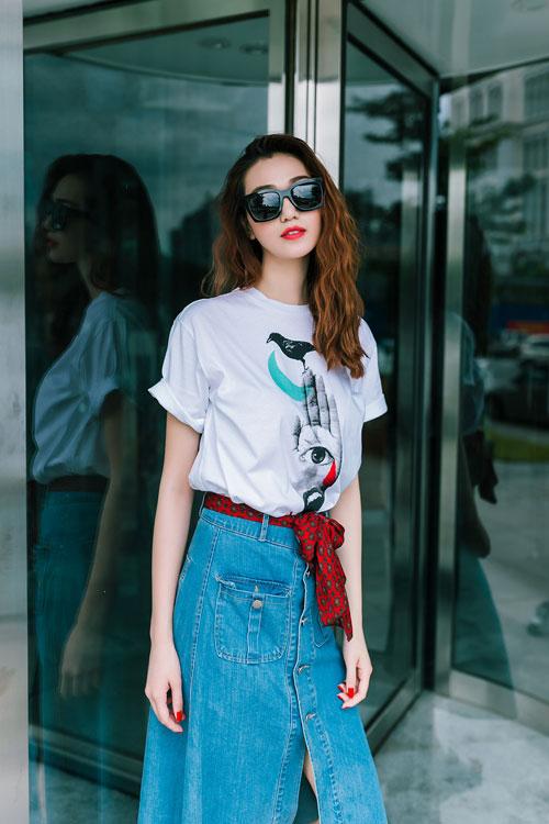 Gu mặc sành điệu của cô gái mê jeans trên phố Sài Gòn - 7