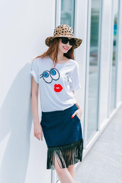 Gu mặc sành điệu của cô gái mê jeans trên phố Sài Gòn - 8