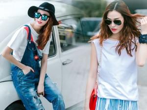 Gu mặc sành điệu của cô gái mê jeans trên phố Sài Gòn