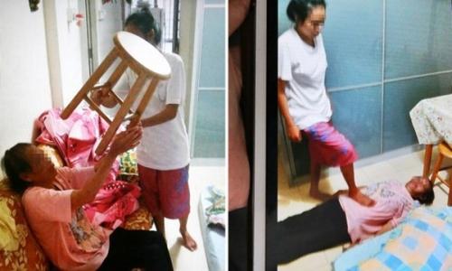 Phẫn nộ con gái ngược đãi mẹ già chấn động Singapore - 1