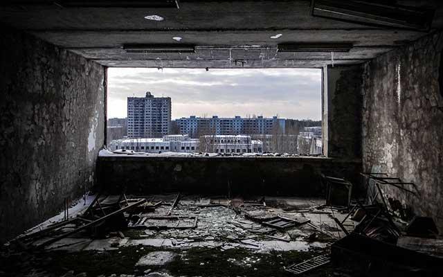 """Rợn người thị trấn """"ma"""" trong lòng Chernobyl - 11"""