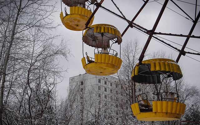 """Rợn người thị trấn """"ma"""" trong lòng Chernobyl - 12"""