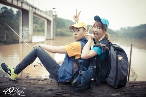 Hari Won nhí nhảnh đi câu cá cùng Ngô Kiến Huy - 1