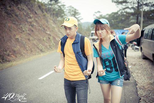 Hari Won nhí nhảnh đi câu cá cùng Ngô Kiến Huy - 2