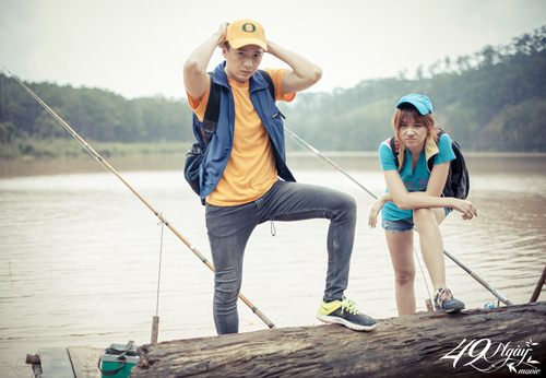 Hari Won nhí nhảnh đi câu cá cùng Ngô Kiến Huy - 4