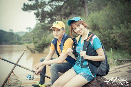 Hari Won nhí nhảnh đi câu cá cùng Ngô Kiến Huy - 7