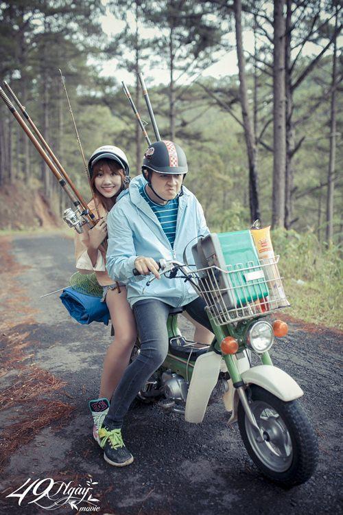 Hari Won nhí nhảnh đi câu cá cùng Ngô Kiến Huy - 8