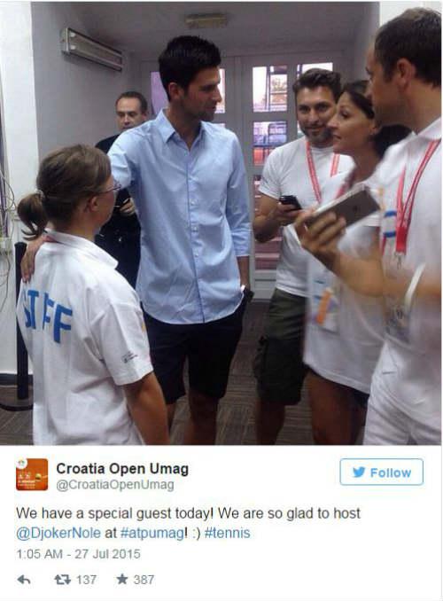 Sắp vượt Nadal, Djokovic thoải mái xem đàn em tranh tài - 2