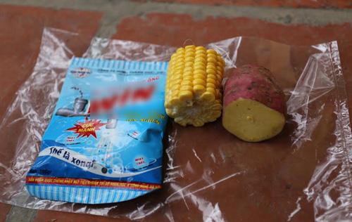 Thực hư luộc ngô, khoai bằng bột thông cống - 1