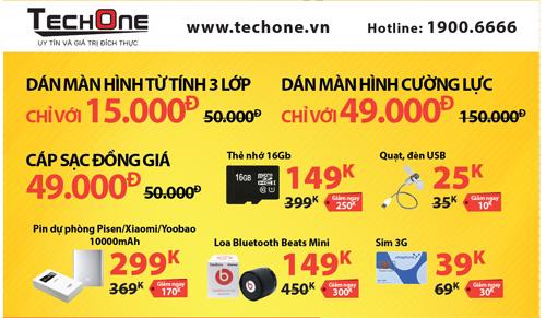 Tháng khai trương showroom TechOne - Mua smartphone giảm giá 50% - 2