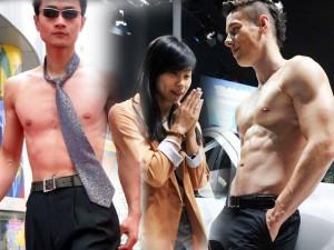 1001 chiêu quảng cáo bằng thân thể của mẫu nam cơ bắp