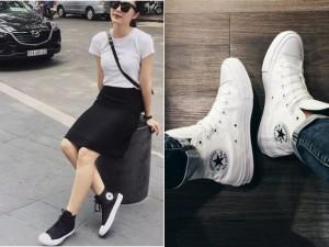 """Giới trẻ Việt """"nức lòng"""" vì mốt giày thể thao mới"""