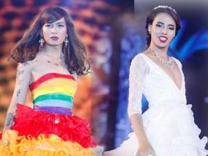 Nam giới tự tin giả gái diễn váy cưới tại Hà Nội