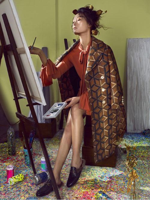 Trang Khiếu gợi cảm hóa thân thành nữ họa sĩ mộng mơ - 3