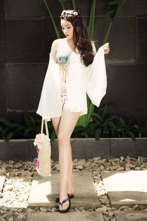 Kỳ Duyên diện bikini gợi cảm, khoe da trắng muốt - 8
