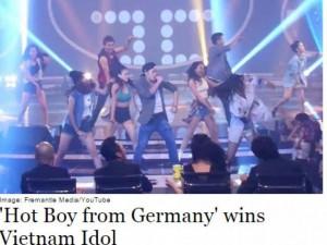 Báo Đức đưa tin Trọng Hiếu thành quán quân Vietnam Idol
