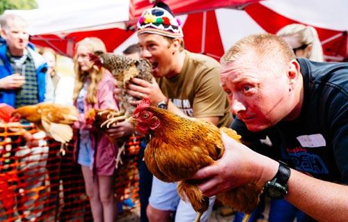 Cuộc thi gà chạy nước rút độc nhất vô nhị ở Anh - 4