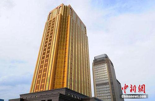 Choáng với tòa nhà vàng làm lóa mắt cả thành phố - 5