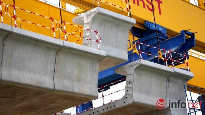 Cận cảnh lắp các đốt dầm 500 tấn cho tuyến metro Bến Thành - Suối Tiên - 4