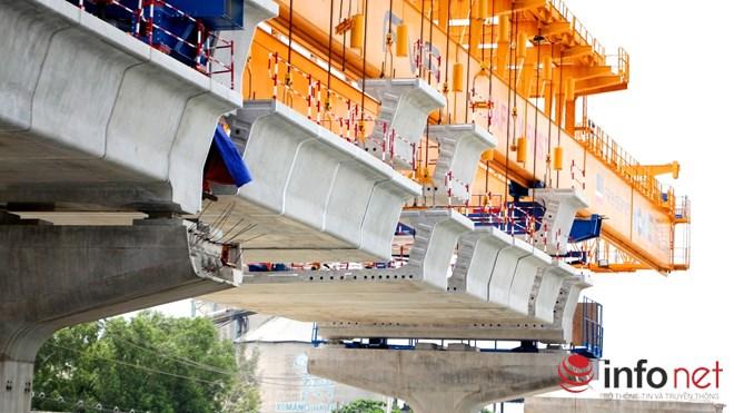 Cận cảnh lắp các đốt dầm 500 tấn cho tuyến metro Bến Thành - Suối Tiên - 5