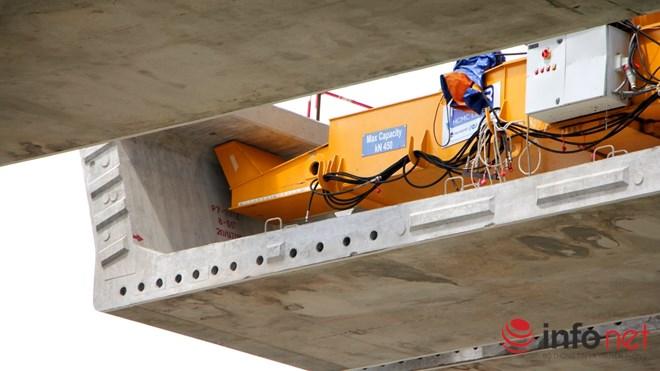 Cận cảnh lắp các đốt dầm 500 tấn cho tuyến metro Bến Thành - Suối Tiên - 6