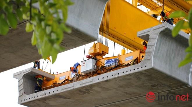 Cận cảnh lắp các đốt dầm 500 tấn cho tuyến metro Bến Thành - Suối Tiên - 8