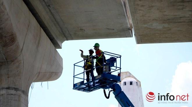Cận cảnh lắp các đốt dầm 500 tấn cho tuyến metro Bến Thành - Suối Tiên - 9
