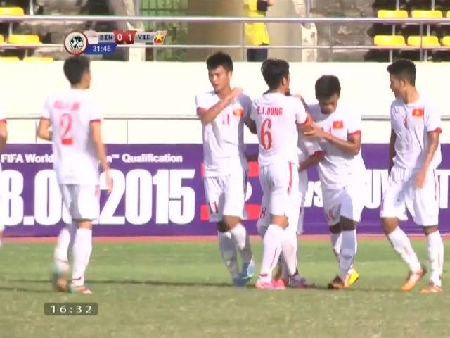U19 Việt Nam - U19 Singapore: Sức mạnh vượt trội