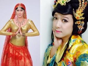 Trường Giang giả gái xinh hơn... Hoài Linh
