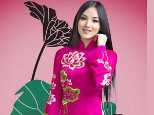 Huỳnh Bích Phương nền nã trong sắc áo truyền thống