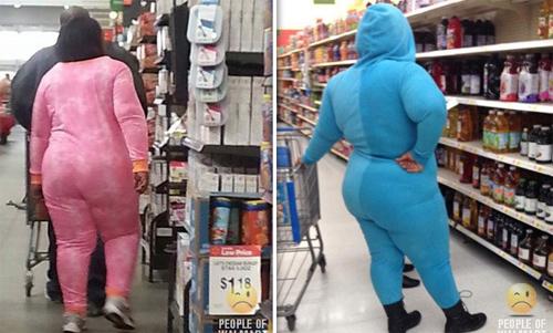 Những cô nàng ninja màu mè trong siêu thị