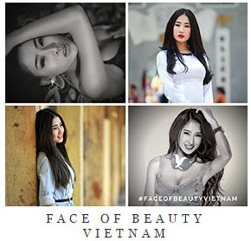 Hình ảnh của Oxy trên trang chính thức của Face of Beauty International